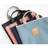 Basic zip around file pouch bag A4 ver.2