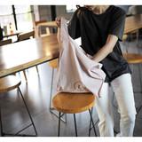 Linen 2 rectangle eco basket tote bag