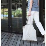 Linen 1 square eco shoulder tote bag