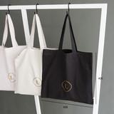 Size of Linen 1 square eco shoulder tote bag