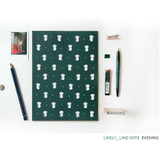 Evening - Pattern lively lined notebook