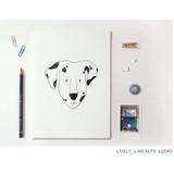Lucky - Pattern lively lined notebook