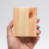 Wood piece pocket memo pad