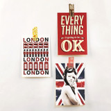 London red illustration postcard set