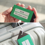 City travel luggage name tag