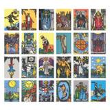 Composition of Vintage tarot label paper sticker set