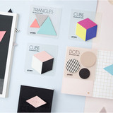 Index cute dots triangles sticky bookmark