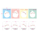 Size of Molang basic cute sticky memo note
