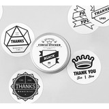 Black circle sticker set with tin case