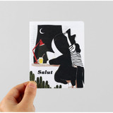 Salut illustration card set