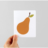 Fruits illustration card set
