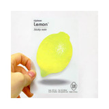 Lemon sticky memo notes