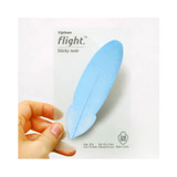 Flight blue sticky memo notes