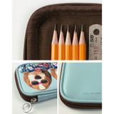 Fashionista - Fashionable animal zipper pencil pouch