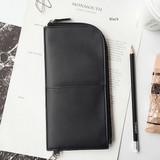 Black - Bon voyage doux souvenir passport pouch