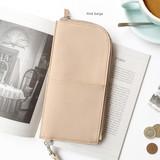 Pink beige - Bon voyage doux souvenir passport pouch