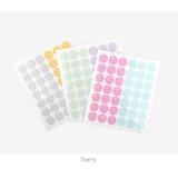 Starry - Transparent circle deco sticker set ver.2