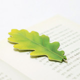 Acorn leaf bookmark black ballpoint pen