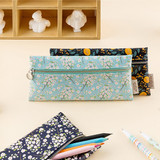 Flower pattern simple zipper pencil case