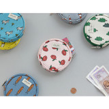 Jam Jam pattern circle zipper pouch