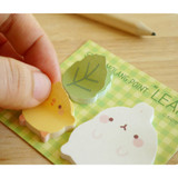 Leaf - Molang cute animal sticky memo note