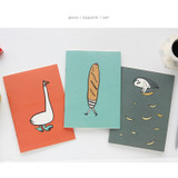 Goose, Baguette, Owl
