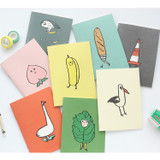 Cute illustration A5 size small lined notebook