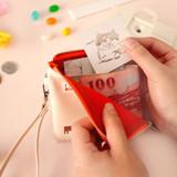 Ding Dong - Hello half zip around wallet