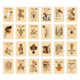 Composition of Vintage toy label paper sticker set