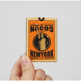 Vintage new york label paper sticker set