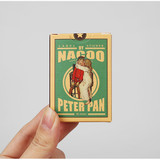 Vintage peter pan label paper sticker set