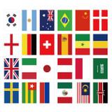 Composition of National flag label paper sticker set