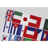 National flag label paper sticker set