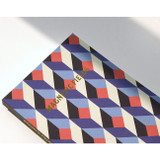 Detail of Geometric pattern pocket plain notebook