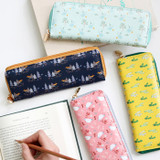 Willow pattern classic slim pencil case