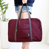 Burgundy - Window blows foldable carrying bag