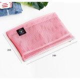 Size of Window blows large mesh zipper pouch