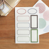 Pattern label deco stickers