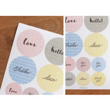 Pattern message deco stickers
