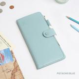 Pistachio blue - Travel RFID blocking long passport case
