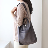 Charcoal - Around'D two pocket bag - small