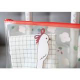 Bird - Clear zip lock pouch bag