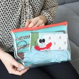 Stripe - Clear zip lock pouch bag