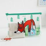 Fox - Clear zip lock pouch bag