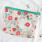 Flower - Clear zip lock pouch bag