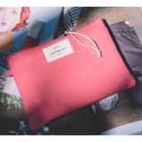 Deep pink - Something wish oxford medium zipper pouch