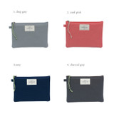 Colors of Something wish oxford medium zipper pouch
