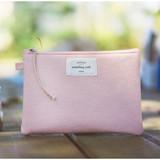Baby pink - Something wish oxford medium zipper pouch