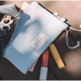 Light blue - Something wish oxford medium zipper pouch