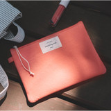 Coral pink - Something wish oxford medium zipper pouch